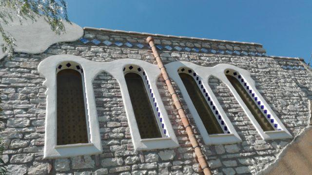 Facciata oreintale  della chiesa - dettaglio